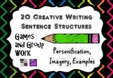 Sentence Structures for Creative Writing Games, Activities