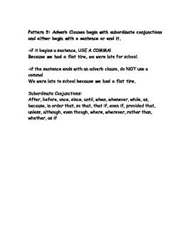 Sentence Style Sheet