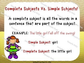 Sentence Subjects: Roll, Say, Keep Game! (Grades 2-3)