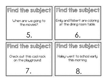 Sentence Subjects Walk-a-Bout