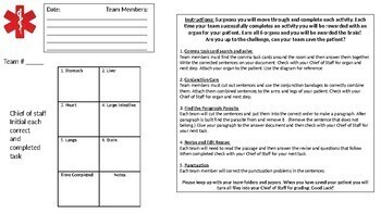 Sentence Surgery Interactive Classroom Transformation, Writing Test Prep