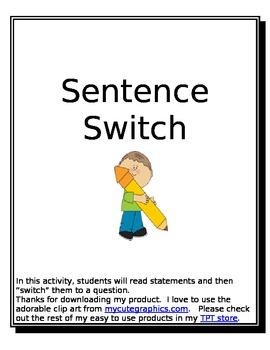 Sentence Switch
