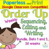 Sentence Task Cards Bundle: Print and Digital (Google Classroom compatible)