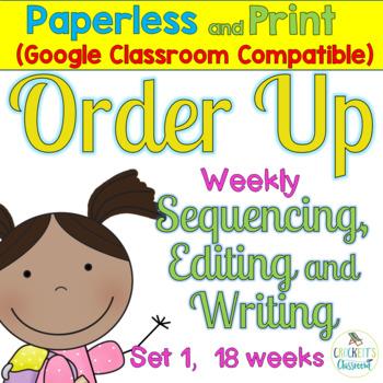 Sentence Task Cards Set 1:  Print and Digital (Google Classroom compatible)