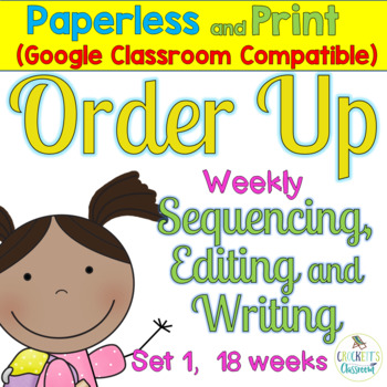 Sentence Task Cards:  Order Up-Sequence, Edit, Write for 2