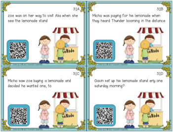 Sentence Task Cards Set 2: Print and Digital (Google Classroom compatible)