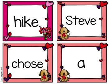 Sentence Task Cards: Valentine Theme