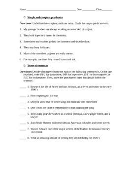 Sentence Assessment (Test)