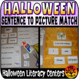 Sentence To Picture Match Halloween Literacy Center Fall Autumn Activities