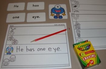 Sentence To Picture Match Halloween Literacy Center Fall Autumn Activities