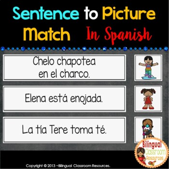 Sentence To Picture Match In Spanish