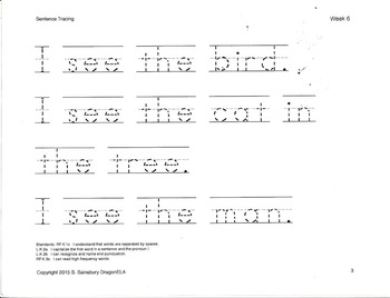 Tracing Sentences Worksheets Teaching Resources Tpt - 39+ Tracing Printable Kindergarten Writing Sentences Worksheets Images