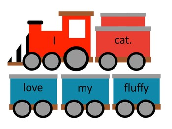 Sentence Train {Editable Center, Anchor Charts, Promethean Flip Chart)