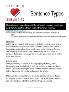 Sentence Type Activities