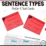 Sentence Type Activity for First Grade ELA Centers with Posters and Task Cards