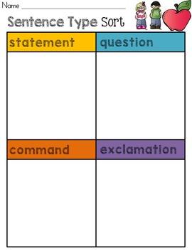 Sentence Type Sort