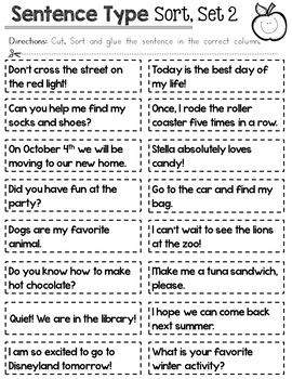 Sentence Type Sort BUNDLE