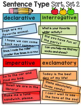 Sentence Type Sort - Second Set