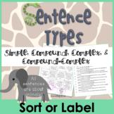 Sentence Type Sort - Simple, Compound, Complex, Compound-Complex