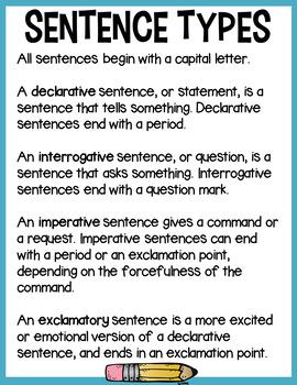 Sentence Type Sort - Third Set