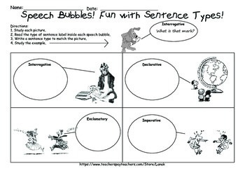 Sentence Type Sorts and Practice Sheets