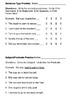 Sentence Type & Subject/Predicate Assessment (Review Sheet