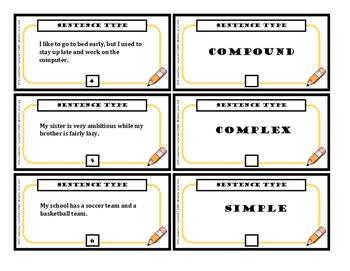 Sentence Structure Task Cards (2 Sets)