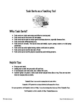 Sentence Types Task Cards