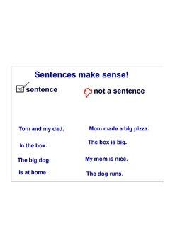 Sentence Types Interactive Whiteboard Activity