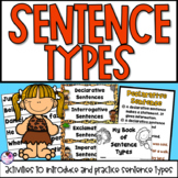 Types of Sentences Anchor Charts, Practice Booklet, Sentence Sorting, Worksheets