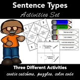 Sentence Types Activities: Cootie Catchers, Puzzles, Color Sentences  CC L.1.1.J