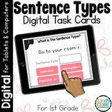 Sentence Types Activities: First Grade Digital Task Cards for Grammar Practice