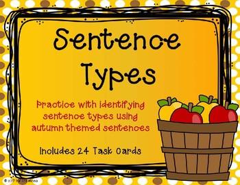 Sentence Types {Autumn Theme}