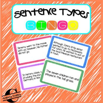 Sentence Types Bingo