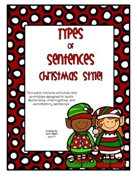 Sentence Types! Christmas Style