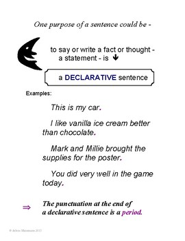 SENTENCE TYPES: Declarative, Imperative, Interrogative, Exclamatory No-Prep Unit