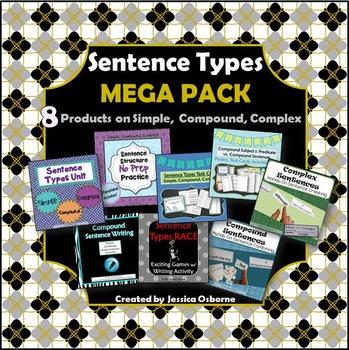Sentence Structure MEGA PACK: Simple, Compound, Complex