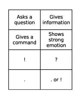 Sentence Types Memory Match