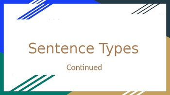 Sentence Types PowerPoint