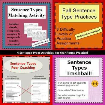 Sentence Types- Practice Bundle