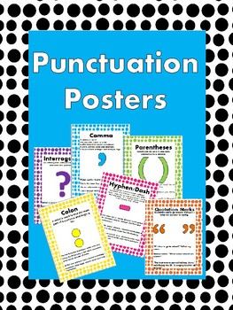 Sentence Types & Punctuation Posters