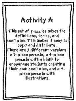 Sentence Types Puzzle Piece Activity {CCSS: Simple, Compound, Complex}