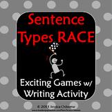 Sentence Structure Race Game: Simple, Compound, Complex Sentence Types