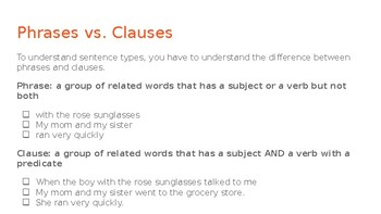 Sentence Types Self-Paced Lesson