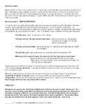 Sentence Types : Simple, Compound, Complex, Compound-Complex