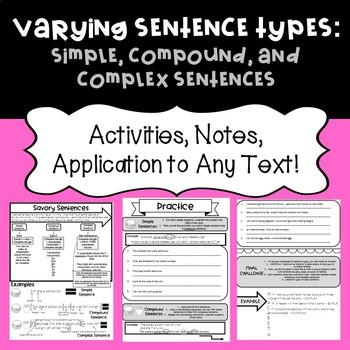 Sentence Types: Simple, Compound, Complex Sentences