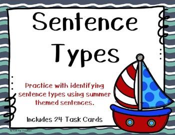 Sentence Types {Summertime - Nautical Theme}