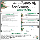 FREE Sentence Types Task Cards #kindnessnation