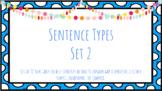 Sentence Types Task Cards Set 2