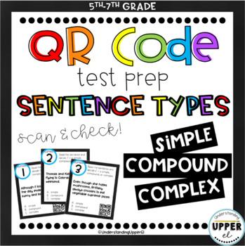 Simple, Compound, Complex Sentences - Multiple Choice (QR